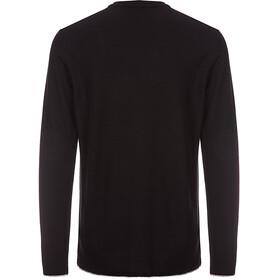 super.natural Piquet LS Shirt Men Jet Black/Ash Melange